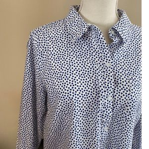 GAP Tops - NWT Gap Heart Pattern Button Front Top Large